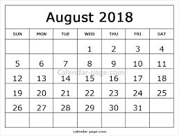 printable calendar 2018 august free printable calendar 2018 august free online calendar templates
