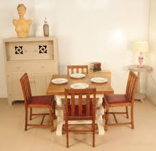 shabby chic painted draw leaf dining table antiques atlas