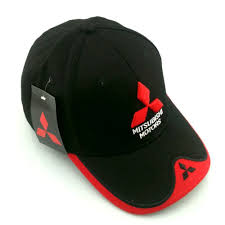 mitsubishi car logo online shop new summer whosesale f1 3d embroiderid mitsubishi hat