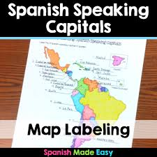 this is a map labeling activity over the 21 spanish speaking