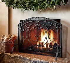 Single Fireplace Screen by Aspen Fireplace Single Screen Pottery Barn