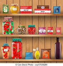 Wooden Shelves Pictures by Vector Of Wooden Shelves With Organic Food Csp17039284 Search