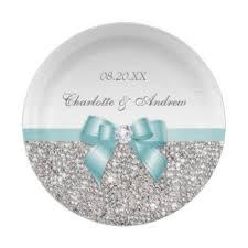Wedding Paper Wedding Plates Zazzle Co Uk