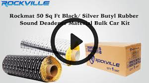 rockmat 50 sqft butyl rubber sound deadener material bulk car kit