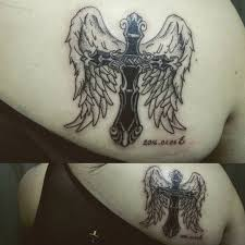100 cross with angel wings tattoo tattoo insights angel