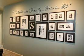 nice family photo display with vinyl word art u2013 pinterest home