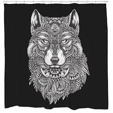 Wolf Curtains Tribal Wolf Shower Curtain U2013 College Magazine Shop