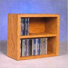 Cd Cabinet Solid Oak 2 Shelf Cd Cabinet