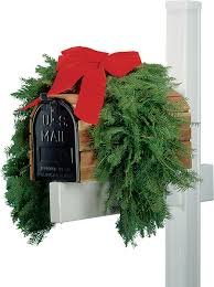 mailbox mantel swag greenery fundraising