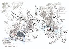 Italy Greece Map by Treadlie Alex Hotchin Is Borderless