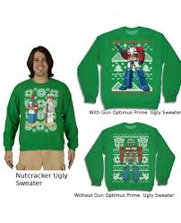 transformers ugly christmas sweaters choose your design