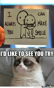 You Make Me Smile Meme - grumpy can t smile by amishmathews meme center