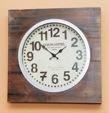 Decorative Wall Clock Union Hotel Decorative Wall Clock Ebth