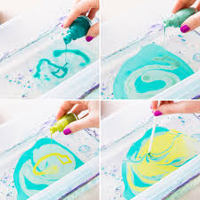 use nail polish and water to create marble paint to make from