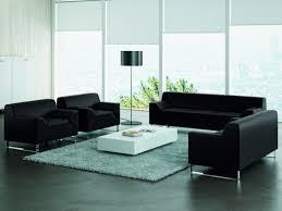 canapé cuir noir 2 places canapés d accueil en simili cuir noir achat canapés d accueil en