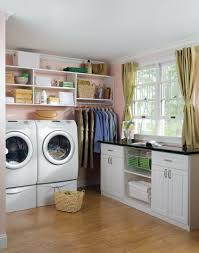 Laundry Room Shelves And Storage by Laundry Room Storage With Custom Sideboard Easyclosets