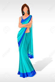 saree clipart pencil and in color saree clipart