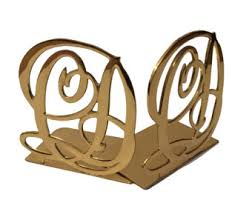 monogram bookends vintage monogram etsy