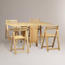 Dining Room  Drop Leaf Table Space Saving Dining Sets Awesome - Awesome teak dining table and chairs residence