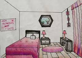 How To Draw A Bed 2nd Point Of View Room In Drawing This Is A One Point