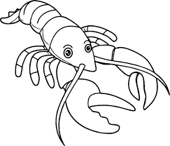 lobster coloring page cartoon lobster coloring page free printable