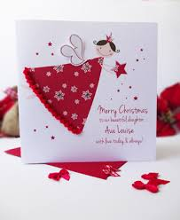 a special christmas handmade christmas card fairy angel personalised