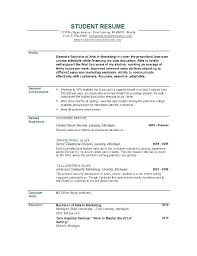 best resume format for no experience best student resume format u2013 foodcity me