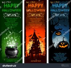 vintage moon pumpkin halloween background set halloween night backgrounds pumpkin haunted stock vector