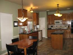 Kitchen Colors With Oak Cabinets Sw Svelte Sage Paint Color With Oak Cabinets Forest Ave House