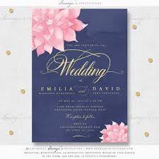navy blue wedding invitations navy blue blush pink watercolor wedding invitation navy blush