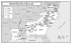 America Rides Maps by Freedom Riders Timeline Freedom Riders Pinterest Freedom Riders
