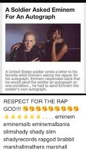 Eminem Rap God Meme - a soldier asked eminem for an autograph a united states soldier