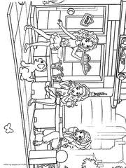 lego friends coloring pages emma