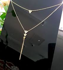 gold metal chain necklace images Gold stainless steel niho double chain necklace double chain jpg