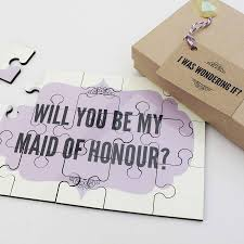 will you be my of honor ideas will you be my of honour personalised gift by lou brown