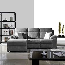 amazon com classic traditional small space reclining sectional