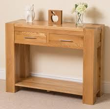 Oak Furniture Kuba Solid Oak Console Table Oak Furniture King