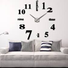 Home Decor Clocks Compare Prices On Digital Wall Clock Mirror Decal Modern Online