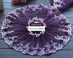 wide lace ribbon high quality 3yards purple lace ribbon 23cm wide diy