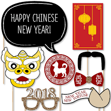 photo booth props new year 2018 year of the dog photo booth props kit 20