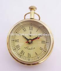 Nautical Desk Clock Nautical Analog Clock Ball Clock Antique Style Brass Clocks Fancy