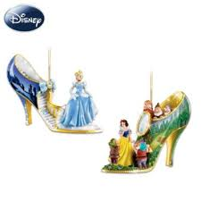 sets of two shoe shaped ornaments sculpted disney characters