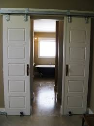 fold sliding bathroom door with vintage bathroom interior design