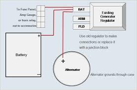 wiring diagram for alternator with external regulator davehaynes me
