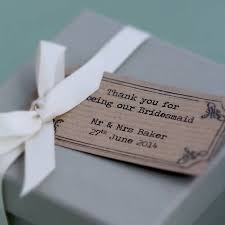 wedding gift kits personalised thank you bridesmaid box by posh totty designs