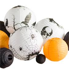 multi color 11 pc halloween party pack paper lanterns combo set on
