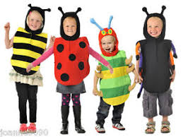 boys girls kids childrens bee bug tabard fancy dress costume book