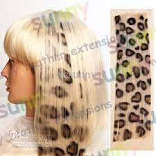 where to buy hair extensions 2018 16 animal leopard print synthetic hair extension clip in