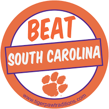 of south carolina alumni sticker beat south carolina clemson clemson football