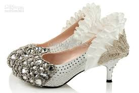 wedding shoes low heel pumps wholesalen low heel silver bead rhinestone high heels bridal